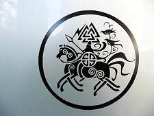 """Odin en Sleipnir"" Dioses Mitos Magia Celta stickers/car/van / window/decal 5150 Bk"