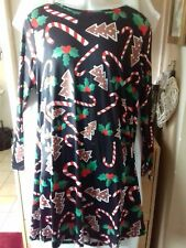 XXL Ladies Christmas dress, 35% cotton 65% polyester. FAST POSTAGE