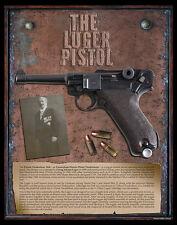 GERMAN LUGER PARABELLUM PISTOL Gicleé 11x14 PHOTO PRINT Gun NRA Arms Military