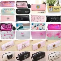 Girls Cartoon Flower Pencil Pen Bag Cosmetic Makeup Storage Bag Women Case Purse