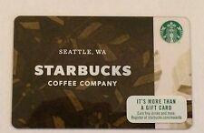 "NEW ""2017 STARBUCKS COFFEE COMPANY SEATTLE WA "" GIFT CARD"