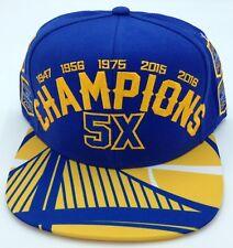 NBA Golden State Warriors Adidas 5X Champs Snap Back Cap Hat Beanie NEW!