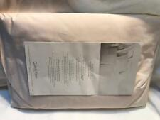 Calvin Klein Double Row Cord Combed Cotton King Fitted Sheet Pink New
