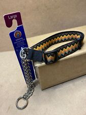 "Large Dog Training Martingale Collar Up to 90lbs; Neck Range 20""- 32"" Zig Zag B2"