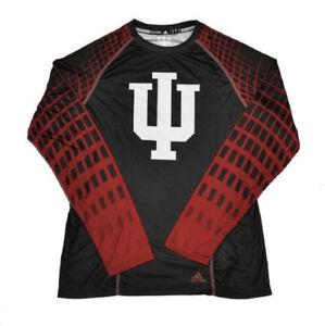 Indiana Hoosiers Adidas Black Toxic Climalite Performance Long Sleeve Shirt NEW!