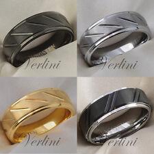 8 mm Brushed EROS Tungsten Ring Black Silver Gold Wedding Band Rings for Men
