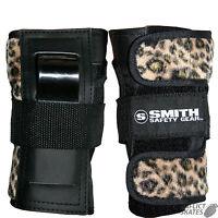 "SMITH ""Scabs"" Leopard Wrist Guards Snowboard Skateboard Roller Derby M or L SALE"