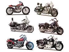6PC HARLEY DAVIDSON MOTORCYCLE SET SERIES 30 1/18 BY MAISTO 31360-30