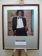 MICHAEL JACKSON OFF THE WALL ORIGINAL FRAMED ALBUM COVER ARTWORK