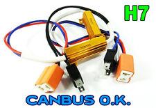 H7 Led Luz Cabeza Luz De Niebla Drl ningún error resistor Canbus advertencia libre Hi Beam
