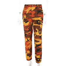 WOMEN ARMY CAMOUFLAGE JOGGER BOTTOM PINK CAMO JOGGING TROUSER Hip-Hop PANTS SALE