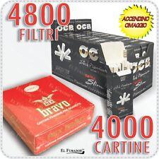 4800 Filtri OCB ULTRASLIM Ruvidi 5,7mm EXTRA + 4000 Cartine BRAVO REX CORTE 100