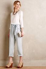$238 NWT CURRENT ELLIOTT Sz27 THE NEWSBOY CHAMBRAY PAPER BAG TROUSERS JEANS ICE