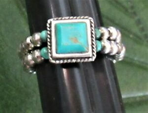 SILPADA STERLING SILVER 925 STRETCH TURQUOISE RING