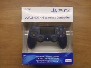 PS4 DualShock 4 Midnight Blue Wireless Controller Barely Used Boxed