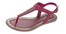 Sandalias y chanclas de mujer planos de color principal rojo
