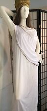 QUEEN NEFERTITI-CLEOPATRA TOGA WHITE & GOLD SEQUIN  COSTUME GOWN 1 PC ONLY-