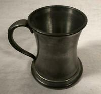 VINTAGE EALES OF SHEFFIELD GLASS BOTTOM ENGLISH PEWTER MUG TANKARD ENGLAND
