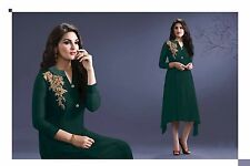 Trendy Western Georgette embroidary work Kurti Grin