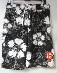 "San Francisco Giants Mens Size 32""  Floral Print Swim Trunks Board Shorts C1 769"