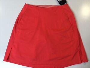NWT Women's DriFit Nike Golf Tennis Skort Skirt Orange MSPR $70 Athletic Sport