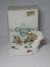 Silvestri Charming Tails Dean Griff Hot Doggin Skiing Mice Mouse Figurine Box