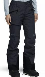 Marmot Snowboarding Women's Refuge Ski Pants in Black Size MEDIUM $200 NWT!!