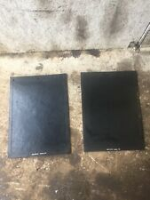 """Black 16"""" X 22"""" Rubber Mud Flap With 3 Holes 5/16"""" Thick (Pair, 2x)"""