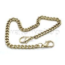 """Watch Fob Chain Lobster Clasps Fc57 Hamilton Gold color 11"""" Link Mens Pocket"""