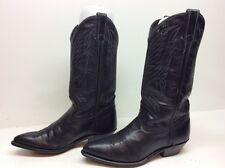 WOMENS CODE WEST COWBOY LEATHER MIDNIGHT BLUE BOOT SIZE 6.5 M
