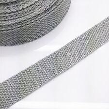 New 5 yards Length 3/4 Inch Width(20mm) Nylon Webbing Strapping light Grey