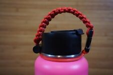Paracord Handle for Hydro Flask/Water Bottles - Red - One Size