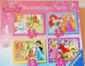Disney Princess Jigsaw Puzzle -  4 Jigsaw Puzzles in a Box 07397 New & Sealed