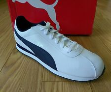 PUMA Men's Turin Fashion Sneaker Shoes White Peacoat Blue Size 13 New in Box