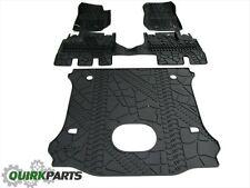 15-17 Jeep Wrangler Unlimited Slush Mats & Cargo Area Mat Subwoofer Cutout MOPAR