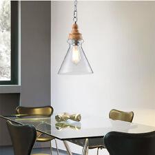 Modern Chandelier Glass Kitchen Ceiling Light Clear Lobby LED Pendant Lighting