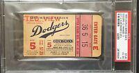 1955 WORLD SERIES Brooklyn Dodgers Win GAME 5 TICKET EBBETS FIELD PSA 4