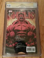 HULK #1 SS CGC 9.8 WHITE PAGES 1ST RED HULK Signed 2X Vines and McGuinness