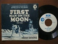 First man on the moon 45 with pic sleeve 1969 NM Commemorative Apollo 11 flight