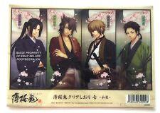 Hakuouki Shinsengumi Kitan Clear Bookmarks Set of 4