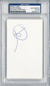 PSA/DNA SIGNED INDEX CARD OLIVER RIEDEL  (RAMMSTEIN) 2157