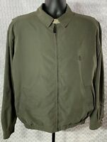 NAUTICA Coat Jacket Mens Size L Large Olive Nylon Polyester Blend Lined Full Zip