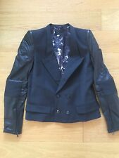 Diesel Black Gold Women's Blazer With Leather Sleeves size 38IT