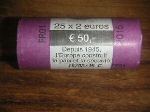 2 Euro Sichtrolle Frankreich 70 Jahre Frieden und Sicherheit in Europa 2015
