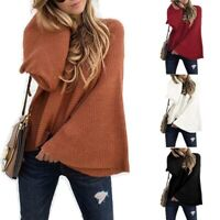Knitted Sweater Women's Casual Solid Tops Fashion T-shirt Long Sleeve Blouse