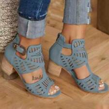 Hollow Open Toe High Heels Ladies New Carved Elegant Summer Sandals Womens Shoes