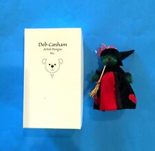 """DEB CANHAM  """" WICKED WITCH"""" FROM OZ SET-GREEN MOHAIR WITH BLACK/RED OUTFIT-5"""""""