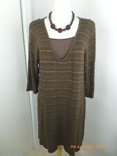allen allen .usa Brown Knit Tunic XL