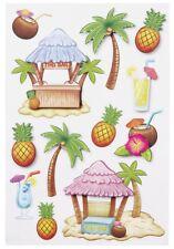 3D Sticker Aufkleber Embellischment Ziersticker Deko Traum Urlaub Insel Palmen