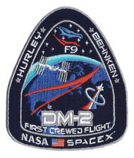 NASA Space X DM2 Crewed Flight Mission Space Station Falcon 9 ISS Patch